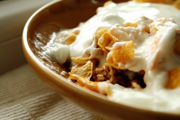cornflakes cu iaurt