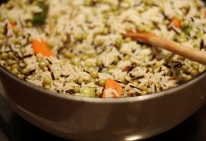 orez, mazare, morcovi