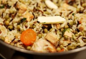risotto, creveti, unt, condimente