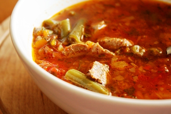 supa de legume cu rasol de vita
