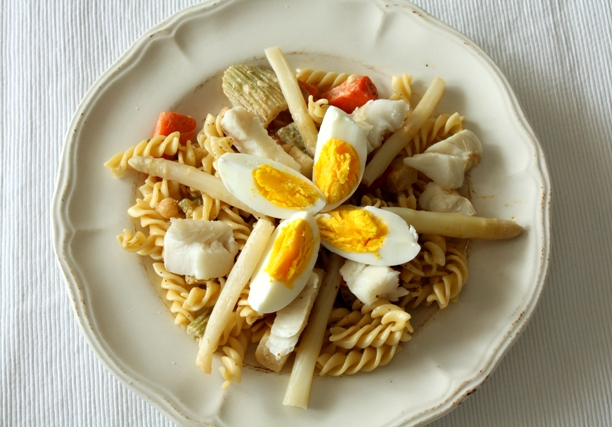 paste cu cod si legume